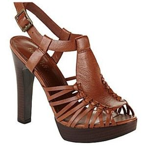 Ralph Lauren Fernanda heeled sandals brown size 11